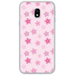 Funda Gel Tpu para Samsung Galaxy J3 (2017) Diseño Flores Dibujos