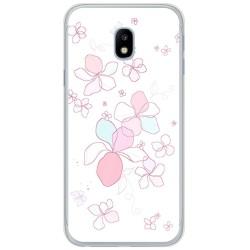 Funda Gel Tpu para Samsung Galaxy J3 (2017) Diseño Flores Minimal Dibujos