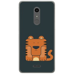 Funda Gel Tpu para Alcatel A3 XL Diseño Tigre Dibujos
