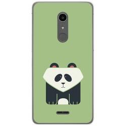 Funda Gel Tpu para Alcatel A3 XL Diseño Panda Dibujos