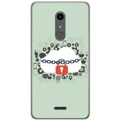 Funda Gel Tpu para Alcatel A3 XL Diseño Nube Dibujos