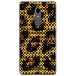 Funda Gel Tpu para Alcatel A3 XL Diseño Leopardo Dibujos