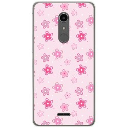 Funda Gel Tpu para Alcatel A3 XL Diseño Flores Dibujos