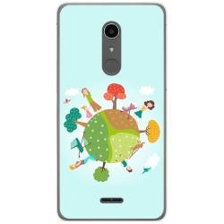 Funda Gel Tpu para Alcatel A3 XL Diseño Familia Dibujos