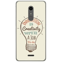 Funda Gel Tpu para Alcatel A3 XL Diseño Creativity Dibujos