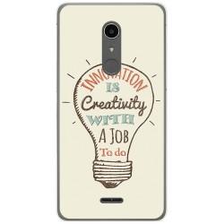 Funda Gel Tpu para Alcatel A3 XL Diseño Creativity Dibujos