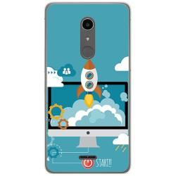 Funda Gel Tpu para Alcatel A3 XL Diseño Cohete Dibujos