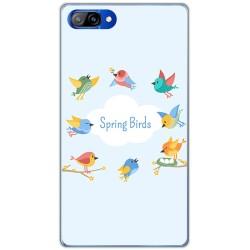 Funda Gel Tpu para Doogee Mix Diseño Spring Birds Dibujos