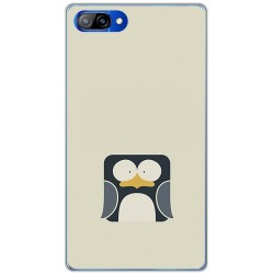 Funda Gel Tpu para Doogee Mix Diseño Pingüino Dibujos