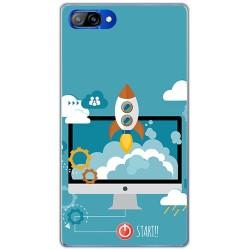 Funda Gel Tpu para Doogee Mix Diseño Cohete Dibujos