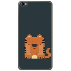 Funda Gel Tpu para Hisense L695 Diseño Tigre Dibujos