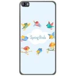 Funda Gel Tpu para Hisense L695 Diseño Spring Birds Dibujos
