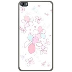 Funda Gel Tpu para Hisense L695 Diseño Flores Minimal Dibujos