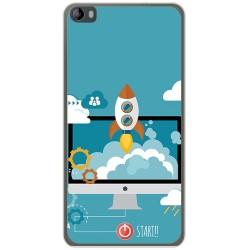 Funda Gel Tpu para Hisense L695 Diseño Cohete Dibujos