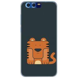 Funda Gel Tpu para Huawei Honor 9 Diseño Tigre Dibujos