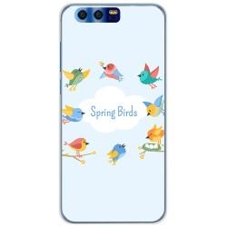 Funda Gel Tpu para Huawei Honor 9 Diseño Spring Birds Dibujos