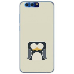 Funda Gel Tpu para Huawei Honor 9 Diseño Pingüino Dibujos