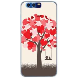 Funda Gel Tpu para Huawei Honor 9 Diseño Pajaritos Dibujos