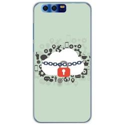 Funda Gel Tpu para Huawei Honor 9 Diseño Nube Dibujos