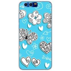 Funda Gel Tpu para Huawei Honor 9 Diseño Mariposas Dibujos