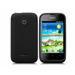 Funda Gel Tpu Huawei Ascend Y210 Color Negra Mate