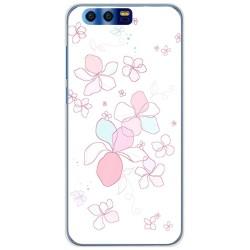 Funda Gel Tpu para Huawei Honor 9 Diseño Flores Minimal Dibujos