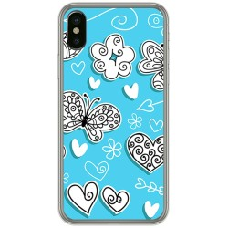 Funda Gel Tpu para Iphone X / XS Diseño Mariposas Dibujos