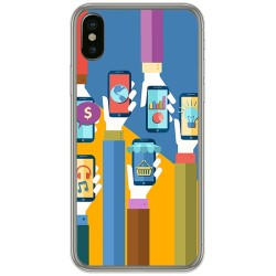 Funda Gel Tpu para Iphone X / XS Diseño Apps Dibujos