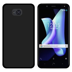 Funda Gel Tpu para Bq Aquaris U2 / U2 Lite Color Negra