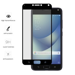 "Protector Cristal Templado Frontal Completo Negro para Asus Zenfone 4 Max 5.5"" Zc554Kl Vidrio"