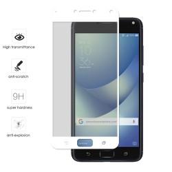 "Protector Cristal Templado Frontal Completo Blanco para Asus Zenfone 4 Max 5.5"" Zc554Kl Vidrio"