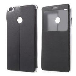 Funda Soporte Piel Negra Con Ventana para Xiaomi Redmi Note 5A Pro / 5A Prime Flip Libro