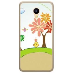 Funda Gel Tpu para Meizu M5C Diseño Primavera Dibujos