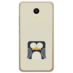 Funda Gel Tpu para Meizu M5C Diseño Pingüino Dibujos