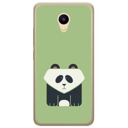Funda Gel Tpu para Meizu M5C Diseño Panda Dibujos