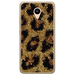 Funda Gel Tpu para Meizu M5C Diseño Leopardo Dibujos