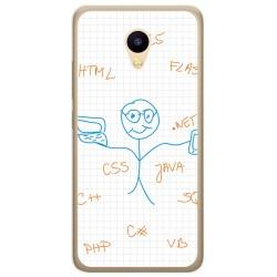 Funda Gel Tpu para Meizu M5C Diseño Informatico Dibujos