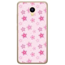 Funda Gel Tpu para Meizu M5C Diseño Flores Dibujos