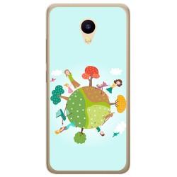 Funda Gel Tpu para Meizu M5C Diseño Familia Dibujos