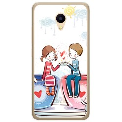 Funda Gel Tpu para Meizu M5C Diseño Cafe Dibujos