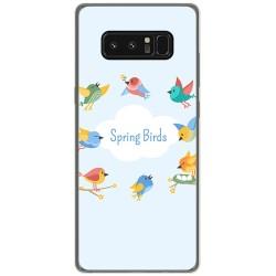 Funda Gel Tpu para Samsung Galaxy Note 8 Diseño Spring Birds Dibujos
