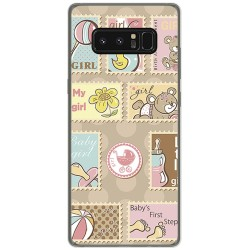 Funda Gel Tpu para Samsung Galaxy Note 8 Diseño Sellos Dibujos