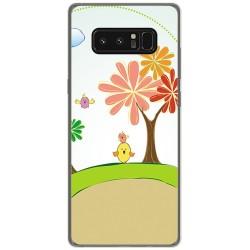 Funda Gel Tpu para Samsung Galaxy Note 8 Diseño Primavera Dibujos