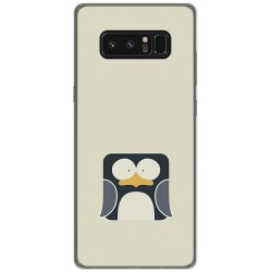 Funda Gel Tpu para Samsung Galaxy Note 8 Diseño Pingüino Dibujos