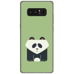 Funda Gel Tpu para Samsung Galaxy Note 8 Diseño Panda Dibujos