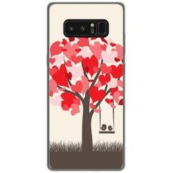 Funda Gel Tpu para Samsung Galaxy Note 8 Diseño Pajaritos Dibujos