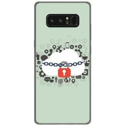 Funda Gel Tpu para Samsung Galaxy Note 8 Diseño Nube Dibujos