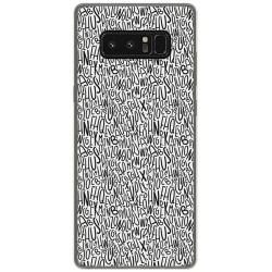 Funda Gel Tpu para Samsung Galaxy Note 8 Diseño Letras Dibujos