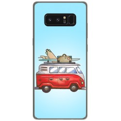 Funda Gel Tpu para Samsung Galaxy Note 8 Diseño Furgoneta Dibujos