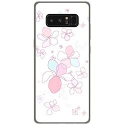 Funda Gel Tpu para Samsung Galaxy Note 8 Diseño Flores Minimal Dibujos